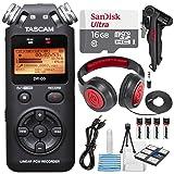 Tascam DR-05 (Version 2) Portable Handheld Digital Audio Recorder (Black) with Deluxe accessory bundle (Tamaño: Deluxe)