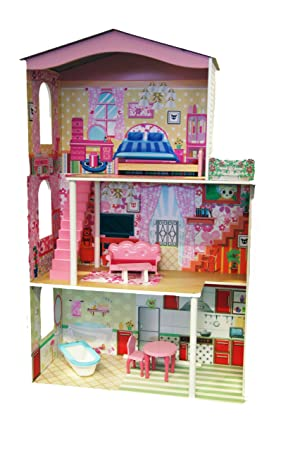 Zhejiang Taixing Child's Toys Co Wooden 3 Storey Dolls House