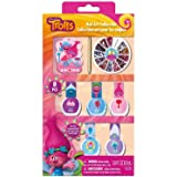 Townley Girl Dreamworks Trolls Nail Art Set, Includes: 7 polishes, nail gems, stickers, and more (Color: Multi Colored, Tamaño: Nail Art Collection)