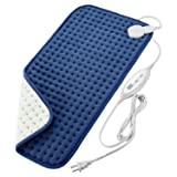 """Fitfirst XL- King Size Heating Pad for Back Pain, 12""""x 24""""Deep Heat Therapy Wrap with Fast Heating Technology, 4 Heat Settings, Ultra Soft, Washable, Auto Off, for Back Neck Shoulder"""