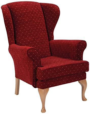 Camelot Boleyn Orthopaedic Chair, Fabric, Ruby
