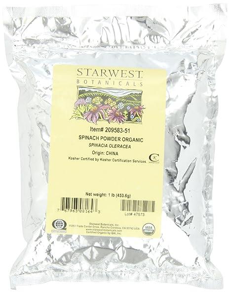 Отзывы Starwest Botanicals Organic Spinach Powder