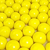 Yellow Gumballs - 2 Pound Bags - Large - One Inch in Diameter - About 120 Gumballs Per Bag - Free