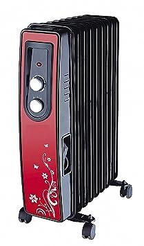 pro.tec Mobile Elektroheizung 500W Öl Radiator Heizkörper Heizung Heizgerät