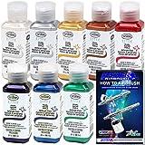 TESTORS - AZTEK Premium PEARL Acrylic Airbrush Paint 8-Color Set & FREE How to Airbrush Manual