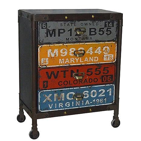 Kommode Schubladenschrank Möbel Industrie Loft Anrichte Sideboard Holz Metal