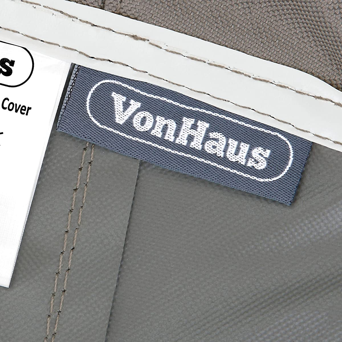 VonHaus Chaise Lounge Cover - 'The Storm Collection' Premium Heavy Duty Waterproof Outdoor Patio Furniture Protection - Slate Gray with Beige Trim - L80 x W36 x H13-33 inches