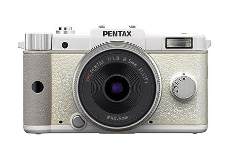 Pentax Q Kit compact hybride 12 Mpix Blanc + Objectif 8,5 mm f/1,9