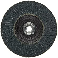 PFERD Polifan SG Abrasive Flap Disc, Type 27, Threaded Hole, Phenolic Resin Backing, Zirconia Alumina