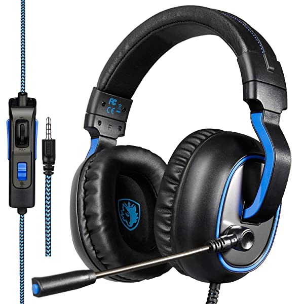 SADES R4 Gaming Headset 3.5mm Over-Ear Headphone with Microphone Volume Control for PC PS4 Xbox one Laptop (Color: SA-R4)