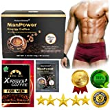 PureGano ManPower Natural Male Enhancement Energy Instant Black Coffee Mix 30 Sachets / Packs (3.5g/Sachet) Natural Herbal Product For Men - Boost Testosterone & Sex Drive - Increase Blood Flow