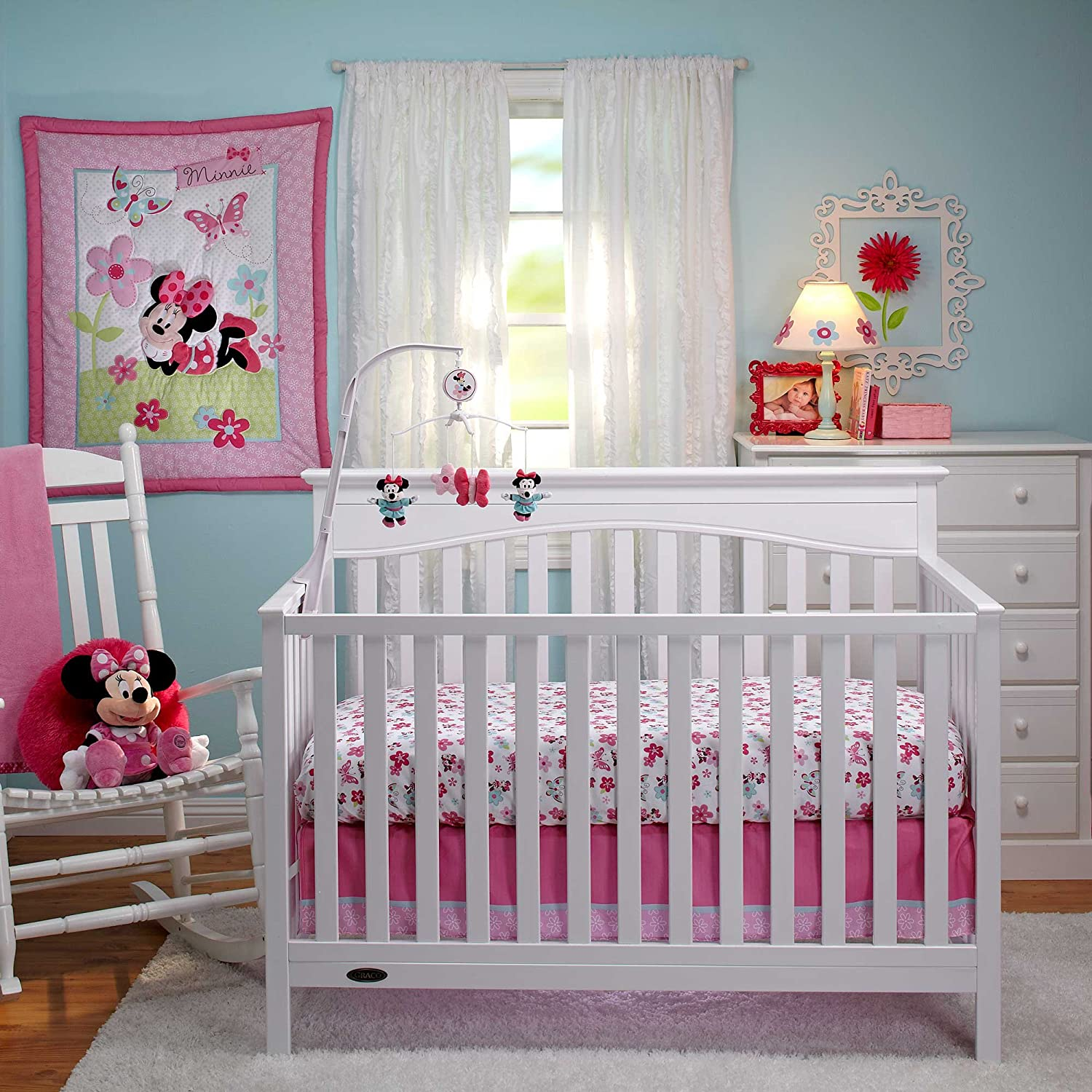 Disney Minnie S Garden Crib Bedding Collection Baby