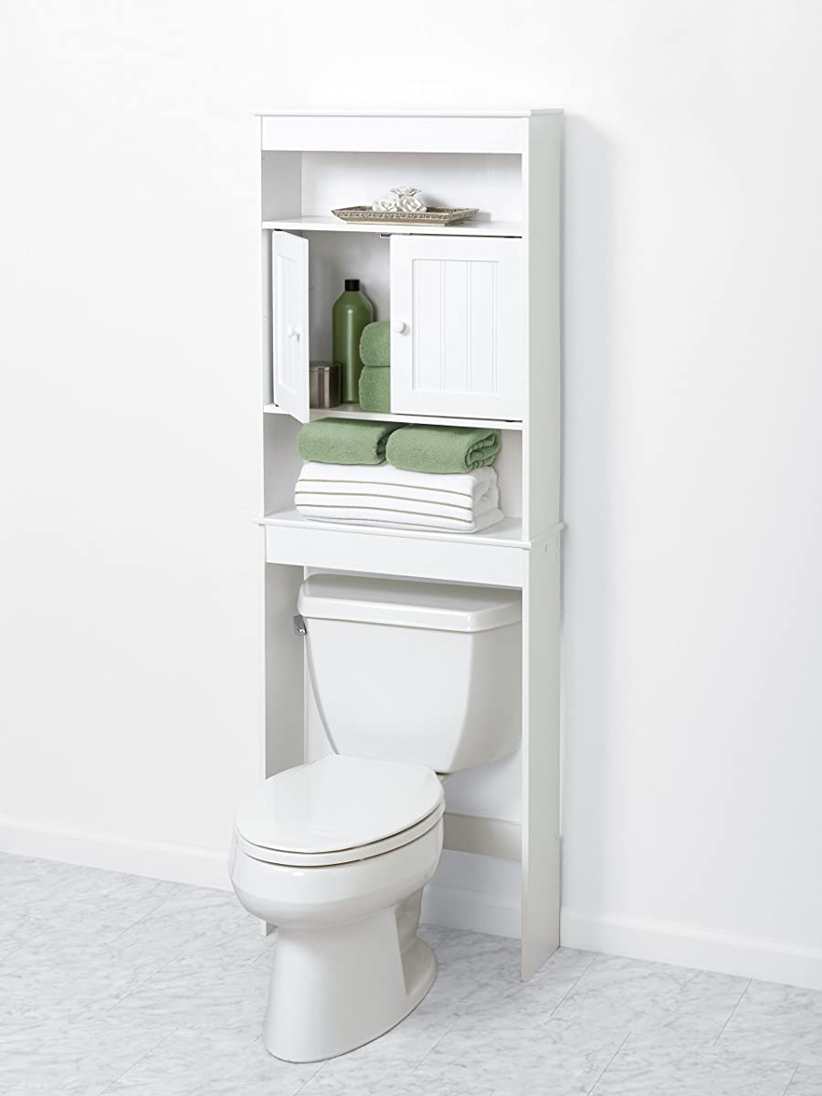 Zenna Home 9119W, Cottage Collection Bathroom Spacesaver, White