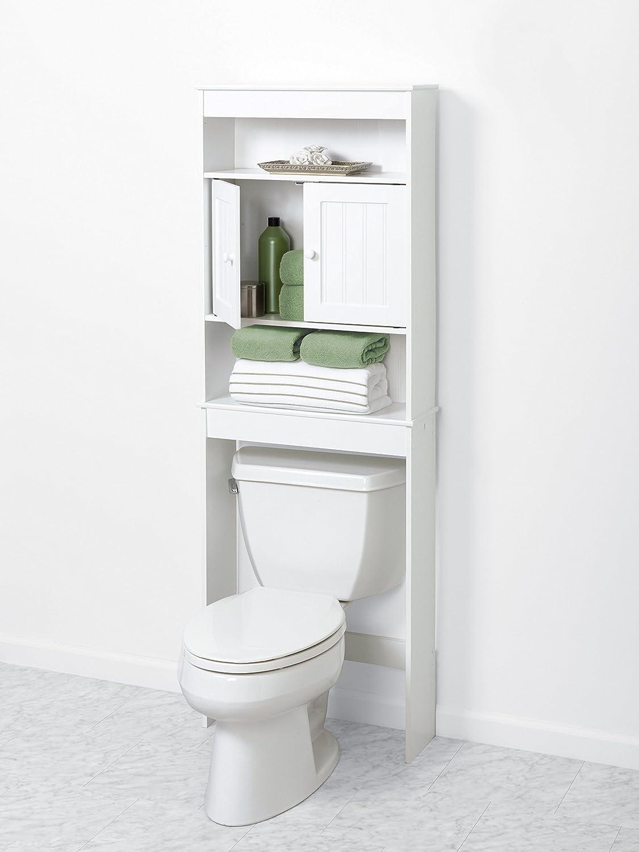 Bathroom Cabinet Storage Over Toilet Organizer 2 Door