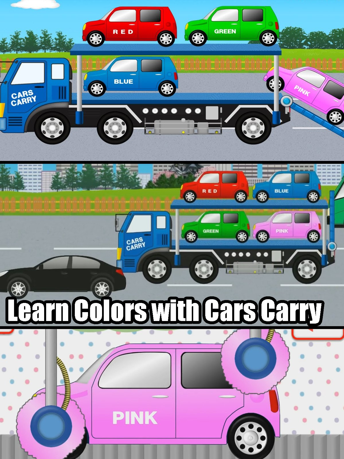 Learn Colors with Cars Carry