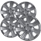 OxGord Hub-caps for 10-11 Toyota Camry Wheel Covers 16 inch Snap On Silver