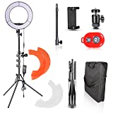 Emart 14 inch Photo Studio LED Ring Light Kit, 180 LED 5500K Dimmable Circle Photography Lighting with 6.2 ft Portable Light Stand for Portrait Video