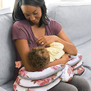 Infantino Elevate Adjustable Nursing Pillow (Colors may vary) (Color: Grey)
