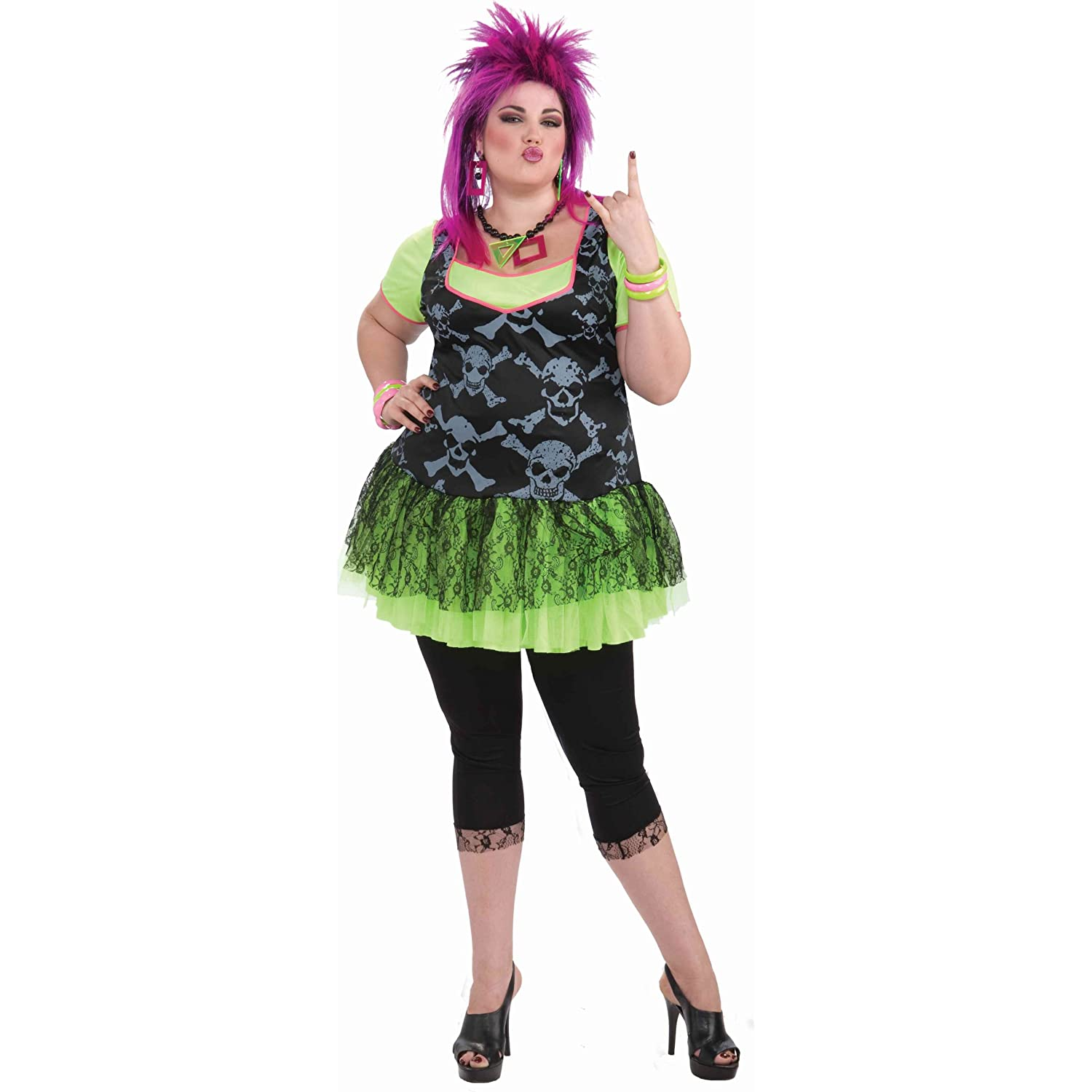 Plus Size 80s Fashion s Punk Lady Plus Size