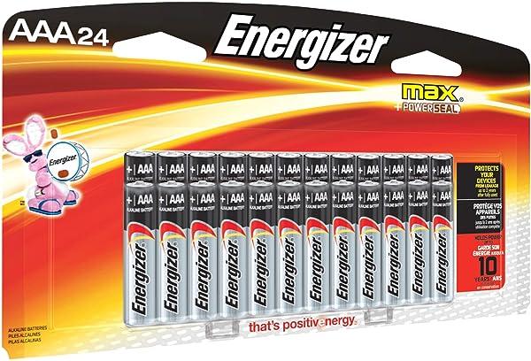 Energizer Max Alkaline AAA Battery, Pack of 24 (Color: Multicolor, Tamaño: AAA)