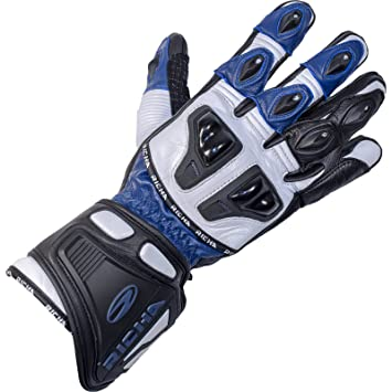 Richa Impact Leather Motorcycle Gloves 3XL Blue