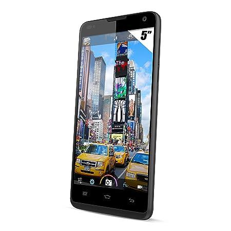 Yezz Andy 5T Smartphone débloqué 3G+ (Ecran: 5 pouces - 8 Go - Double SIM - Android 4.4 KitKat) Noir