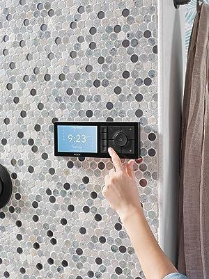 Moen TS3304BL U by Moen Shower Smart Home Connected Bathroom Controller, 4-Outlet Digital Wall Mounted, Matte Black (Color: Matte Black)