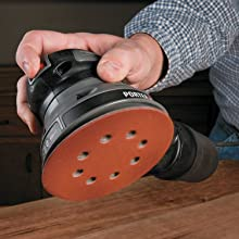 PORTER-CABLE 390 5-Inch Low Profile Random Orbit Sander with Hook and Loop Pad