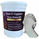 Grape Arts Memory Keepsake Hands Statue Kit Molding Powder and Casting Plaster (Tamaño: Standard)