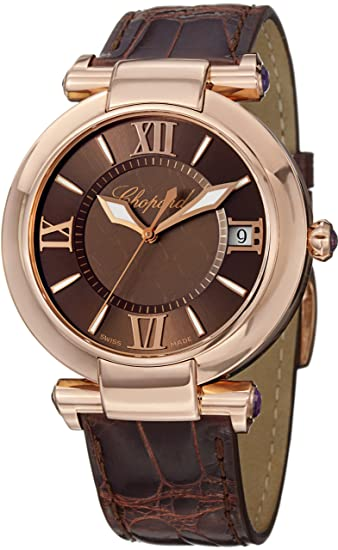 Chopard Women's 384241-5005 LBR Imperiale Analog Display Swiss Automatic Brown Watch
