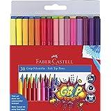 Faber-Castell Grip Colour Felt Tip Pens - Set of 30