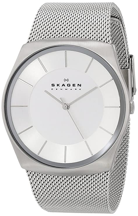 Best watch brands Skagen Men's SKW6067 Havene Stainless Steel Watch with Mesh Band