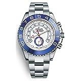 Luxury Swiss Crown Chronograph TOP High End Master II Automatic ETA 7750 Watch Ring Command Bezel 44MM