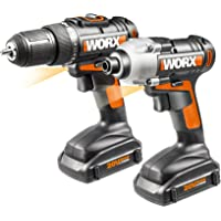 Worx WX916L 20V Li-Ion 2-Pc. Combo Kit with Drill and Impact Driver