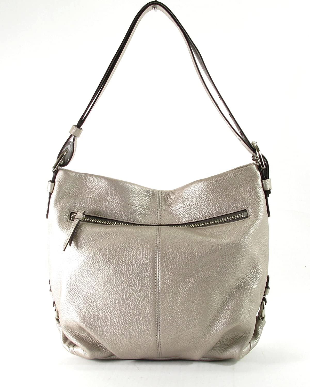 Coach Silver Leather Duffle Shoulder Crossbody Bag 83