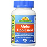 Nova Nutritions Alpha Lipoic Acid 600 mg 120 Capsules