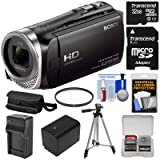 Sony Handycam HDR-CX455 8GB Wi-Fi HD Video Camera Camcorder with 32GB Card + Battery & Charger + Case + Tripod + Filter + Kit