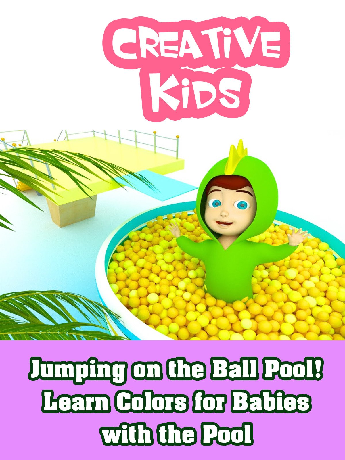 Jumping on the Ball Pool! Learn Colors for Babies with the Pool