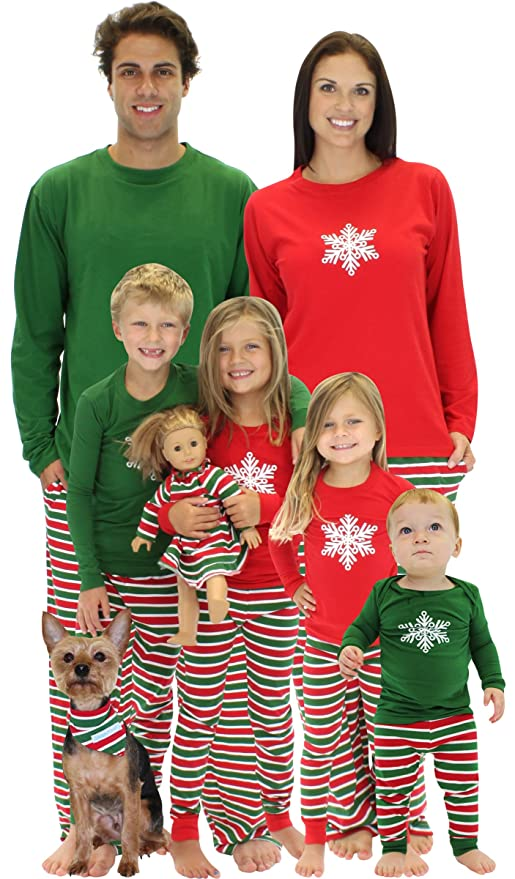 SleepytimePjs Christmas Stripes Family Matching Pajamas