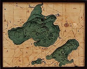 Lake Mendota / Monona Wood Chart