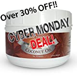 Coconut Oil - Best, Pure, Raw, Organic, Unrefined, Unbleached, Chemical-Free, Extra Virgin, Cold Pressed - 32oz- Uses: Cooking, Weight loss, Skin, Hair, Recipes & other Health Benefits- MCT's, Contains Zero Trans Fats - Guaranteed High Quality Butter