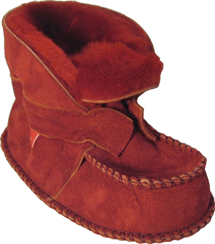 Plateau Tibet – ECHT LAMMFELL Babystiefel Baby Kinder Booties Stiefel – HuggME – Rot günstig