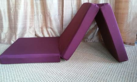 Folding Bed Single Size 4x29x75 Burgundy