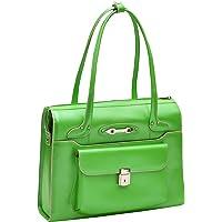 McKlein USA WenonahWomens Leather Laptop Briefcase (Green)