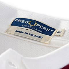Single Tipped Fred Perry Shirt M2: Snow White