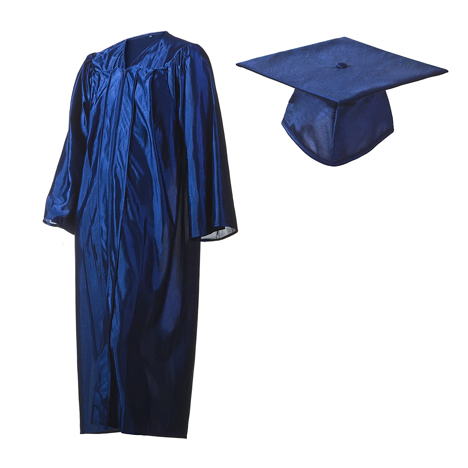 Blue cap and gown