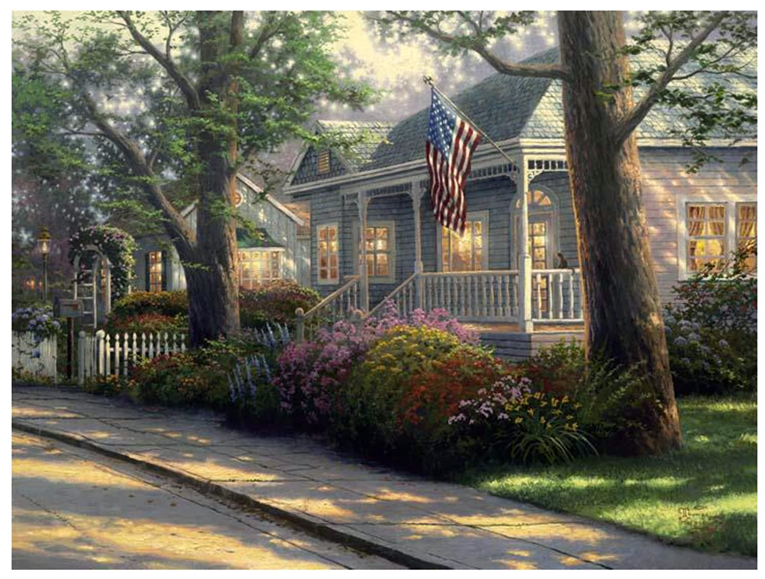 Plaid Thomas Kinkade Series Paint by Number Kit, 20-Inch by 16-Inch, Hometown Pride