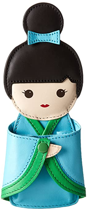 kate spade new york Hello Tokyo Coin Purse,Kinetic Turquoise/Metropolis Green,One Size