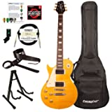 Sawtooth ST-H58S-LH-TCNFL-KIT-1 Heritage Series Left-Handed Maple Top Electric Guitar, Tuscan Flame (Color: Left-Handed Tuscan Flame, Tamaño: Kit 1)