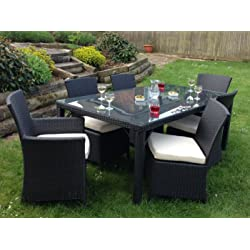 Marco Phillippe Rattan Dining Table Set